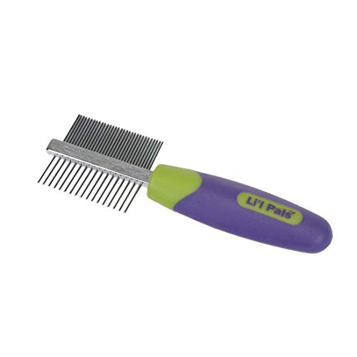 LilPals Double-Sided Dog Comb, Green
