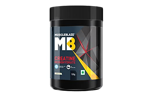 MuscleBlaze Creatine Monohydrate, India's Only Labdoor USA Certified Creatine (Unflavoured, 100 g /...