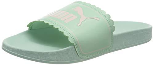 PUMA Leadcat FTR Petals JR, Zapatos de Playa y Piscina Mujer, Verde (Mist Green/Rosewater), 38 EU