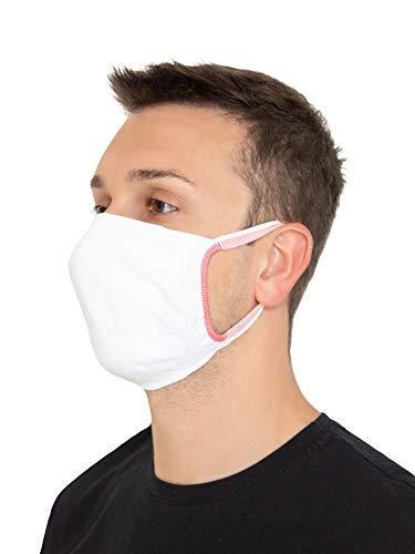 Relaxsan - SET 3 Fasce protettive viso bocca naso lavabili riutilizzabili assorbenti in tessuto