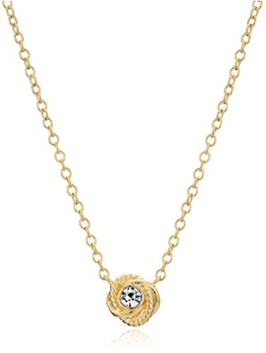 kate spade new york 'Infinity and Beyond' Clear/Gold Knot Mini Pendant Necklace