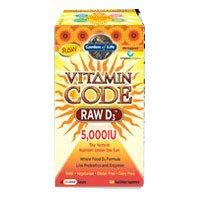 Vitamin Code RAW D3 is a raw source of vitamin D3, Garden of Life Vitamin Code RAW D3 5000, 60 Capsules (60 x 4) RAW Vitamin D3 whole food vitamin D complex