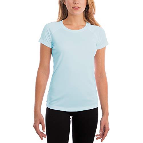 Vapor Apparel Damen-T-Shirt, UPF 50+, UV-/Sonnenschutz, kurzärmlig - Blau - XX-Large