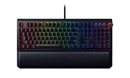 Razer Blackwidow Elite - Mechanische Gaming Tastatur mit Mediensteuerung und Handballenauflage (Green Switches, QWERTZ Layout)