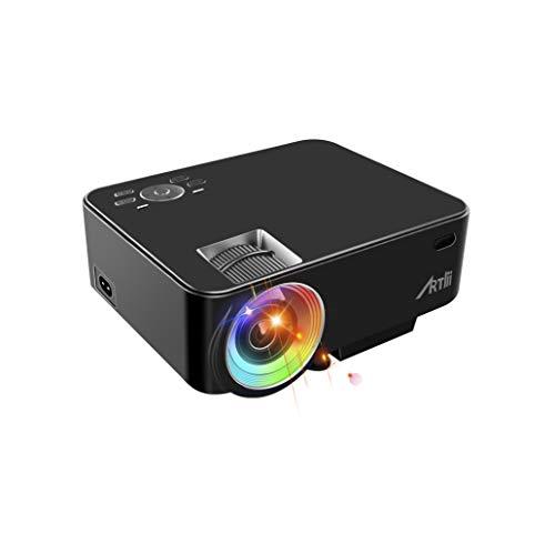 Mini Proiettore Portatile, Artlii Lcd Proiettore 2000 Lumens LED Home Theater Proiettore con HDMI USB VGA AV SD Nero,Per Film Foto Multimediali Teatro Collegamento per il Tablet PC/Smartphone
