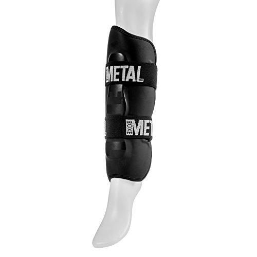 Metal Boxe Protège-tibias Noir Taille M