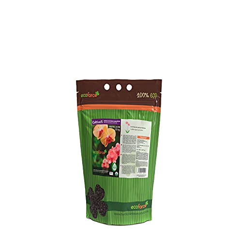 CULTIVERS Abono Ecológico Especial Orquídeas de 1,5 Kg. Fertilizante de Origen 100% Orgánico y Vegano Granulado. Potencia el Crecimiento y estimula la Floración