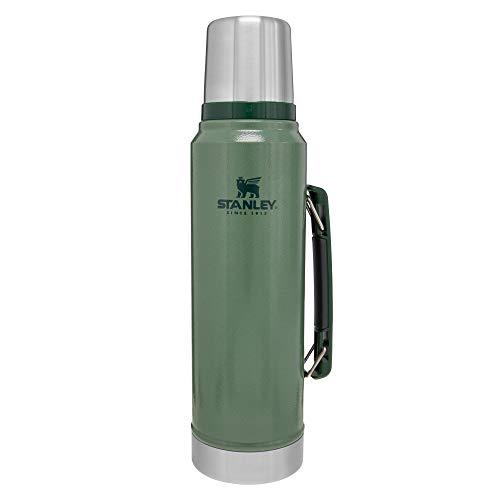 Stanley Botella Clásica al Vacío, Verde (Hammertone Green), 1 Litro