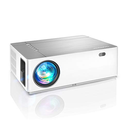 Proyector, 7200 Lúmenes 1080p Nativo, Full HD Proyector 5D Keystone 50% Zoomout, Proyector Exterior, Soporta 4K, Dolby, Compatible with TV Stick, Android, iOS, HDMI, Parrot I