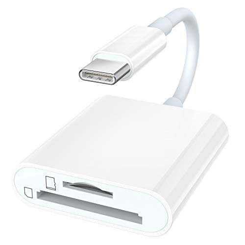 FA-STAR USB C to SD/Micro SD Card Reader, Type C Thunderbolt 3 SD/TF Memory Card Reader Adapter Compatible with iPad Pro 2018, MacBook Pro/Air, Samsung Galaxy S10/S9/S8, Pixelbook and More