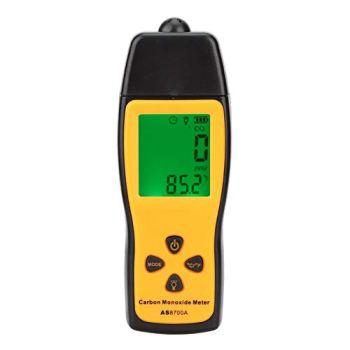 Moniteur de compteur de monoxyde de carbone Testeur de gaz CO de haute précision Détecteur de fuite de CO numérique Jauge d'analyseur de gaz professionnel portable avec plage de mesure 0~1000PPM