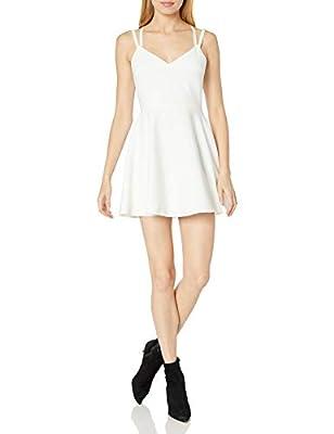 Crisscross strappy dress Fit and flare Party dress Sleeveless v-neck short white dress