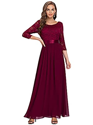 """Detailed Size Info Please Check Our Size Chart Among Main Product Images, Not Size Info Link. It is US Size when you place order. Elegant Empire Waist Bridesmaid Dresses Lined, Low Stretch, Padded Enough For """"No Bra"""" Option Perfect as bridesmaid dres..."""