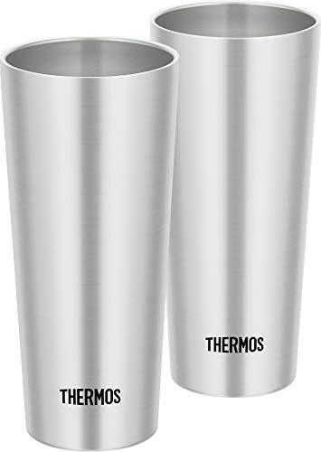サーモス 真空断熱タンブラー 2個セット 400ml  ステンレス JDI-400P S