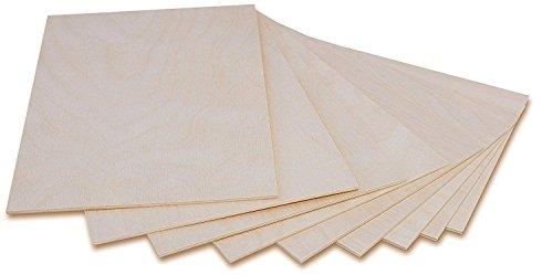 Creative Deco 10 x A3 Holz-Platte | 420 x 300 x 3 mm | Dünne Sperrholz-Zuschnitte | Perfektes Blatt für Laubsäge, Brandmalerei, Laserschnitt, CNC Router, Durchbrochenes