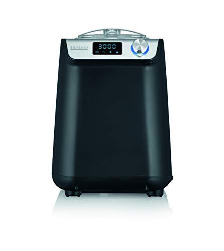 SEVERIN EZ 7407 Kompakt-Eismaschine mit Kompressor, 1.2l Fassungsvermögen, hochwertiges Gehäuse Applikation, Innovative Joghurt-Funktion, 1.2 liters, silber/Edelstahl-gebürstet