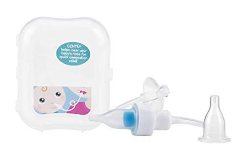 Nuby - Aspiratore Nasale per neonati e bambini - con 4 filtri lavabili e custodia da viaggio - 0mesi+