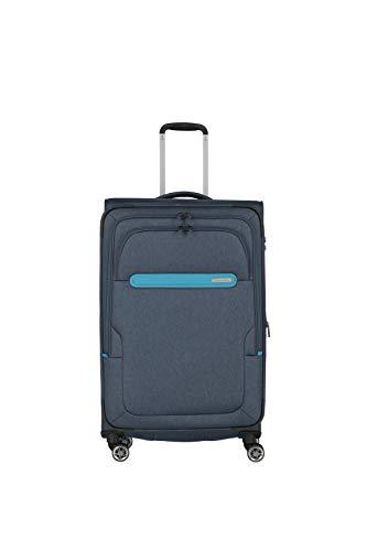 Travelite travelite: Madeira – sehr leichte Trolleys, Trolley-Taschen, Reise- und Bordtaschen plus Weekender Koffer, 77 cm, 86 Liter, Marine/Türkis
