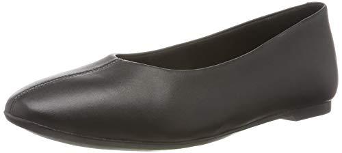 Clarks Chia Violet, Bailarinas para Mujer, Negro (Black Leather Black Leather), 41 EU