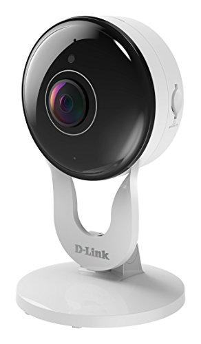 D-Link DCS-8300LH Videocamera Grandangolare 137° , (Wi-Fi, Full HD, Audio a due vie, Slot per Micro SD, Registrazione Cloud Gratuita, Funziona con Alexa), visione notturna fino a 5 m, Bianco