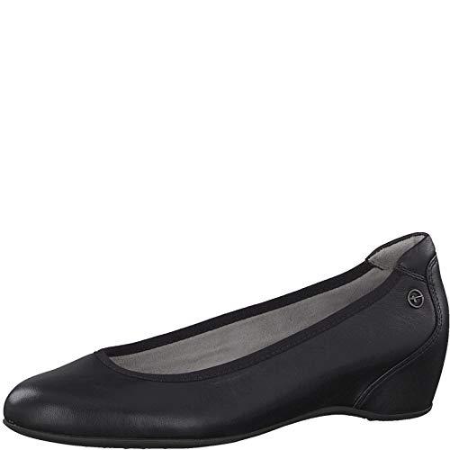 Tamaris Femme Escarpins 22471-24, Dame Wedges, Escarpin,Classique,élégant,Chic,Confortable,Chaussures d'affaires,Bureau,Black Leather,39 EU / 5.5 UK