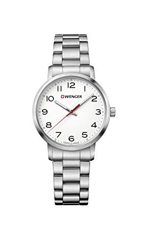 Wenger Women's Sport Swiss-Quartz Watch with Stainless-Steel Strap, Silver, 17 (Model: 01.1621.104)