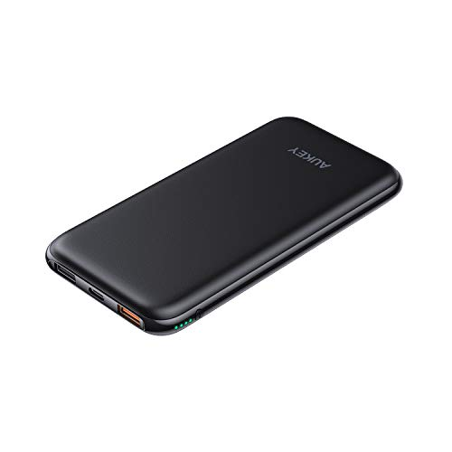 AUKEY Wireless Power Bank with 18W Power Delivery, Wireless Charger Portable 8000mAh, USB C Power Bank with QC 3.0, Wireless Charging Compatible with iPhone Xs/XR, New Airpods,Samsung