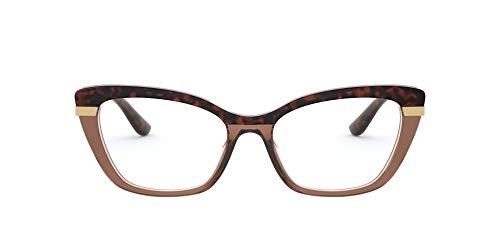 Dolce Gabanna - DG3325 Top Havana On Transp Brown Cat Eye Women Eyeglasses - 52mm