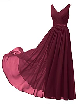 Please Note: For orders fulfilled by Alicepub: One Dress Style, Two Back Design(Lace-up and Zipper) for your choice, Message us your favorite back design! For orders fulfilled by amazon, there is only ZIPPER back design now This chiffon A line dress ...