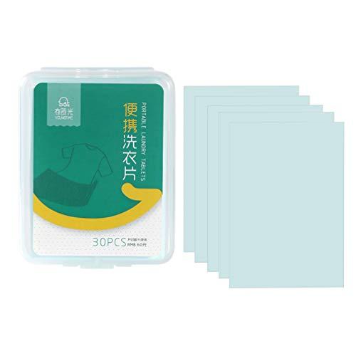 Artibetter 1 Boîte de 30 Pcs Feuilles de Détergent à Lessive Tissu...