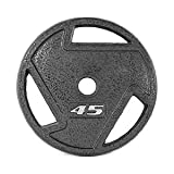 CAP Barbell 2-Inch Olympic Grip Plate, Various Sizes (Olympic Grip Plate, 45-Pounds)