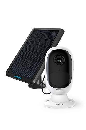 Reolink Argus 2 con Pannello Solare HD 1080P Telecamera di Sicurezza Esterna Ricaricabile a Batteria Sensore di Luce stellare WiFi Cam (Pannello Solare Incluso)