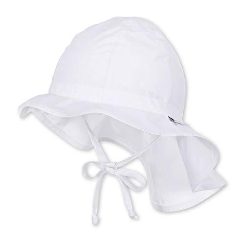 Sterntaler Unisex Flapper mit Bindebändern und Nackenschutz, Alter: ab 9-12 Monate, Größe: 47, Weiß