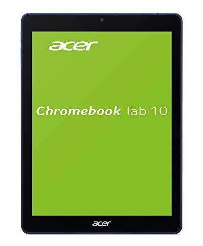 Acer Chromebook Tab 10 D651N-K68N 24,6 cm (9,7 Zoll QHD IPS Multi-Touch) Chrome Tablet (Rockchip RK3399 Six-Core, 4GB RAM, 32GB eMMC, OP1 Prozessor Graphics, Chrome OS) schwarz/blau