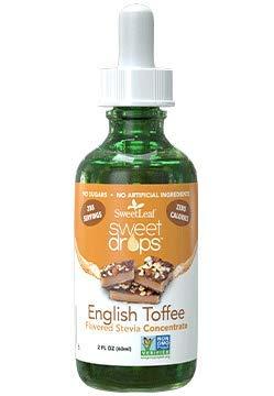 SweetLeaf Sweet Drops Liquid Stevia Sweetener, English Toffee, 2 Ounce - Pack 3