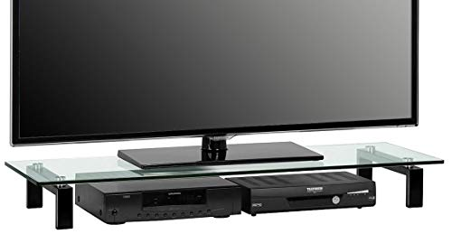 Maja 16059599 - Tavolino per televisore, 110 x 12,5 x 35 cm, metallo, nero