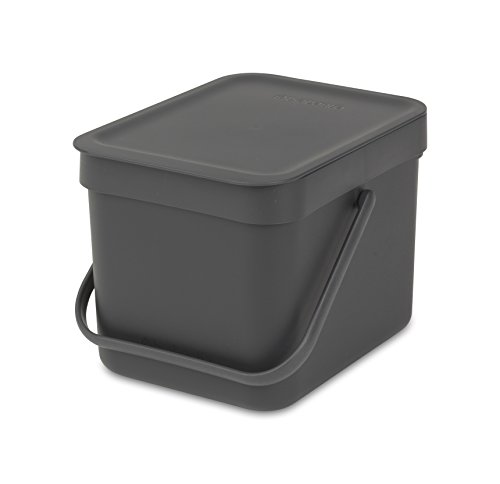 Brabantia Sort & Go Einbaubehälter, Plastik,Grey,6L