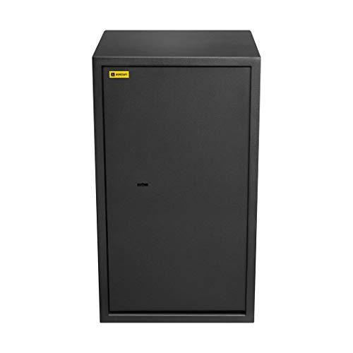 Homesafe HV70K Tresor Safe mit Schlüssel-Schloss, 70x40x36cm (HxWxD), Carbon Satin Schwarz