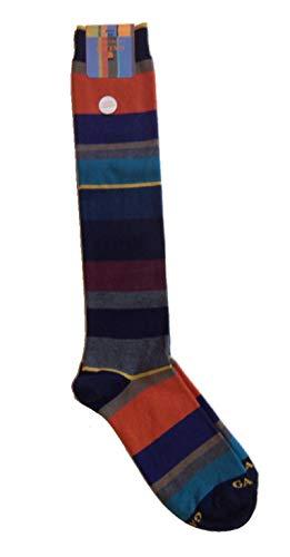 Gallo calze uomo righe multicolor in cotone e cashmere art. AP102855 colore navy taglia unica 40-45