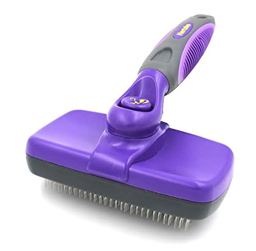 HERTZKO Self-Cleaning Slicker Brush for Dogs and...