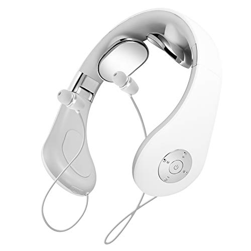 Bluetooth Headphones, HaoHiyo Wireless Neckband Massage Headset Sports Earbuds Stereo Earphones with Mic (55 Hrs Playtime, 2021 Upgraded) (White)