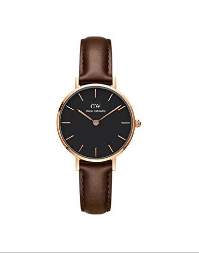Daniel Wellington Damen Analog Quarz Uhr mit Leder Armband DW00100221