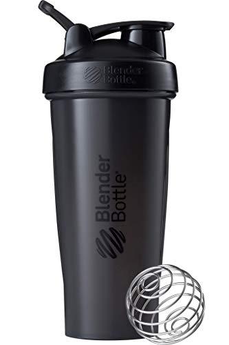 BlenderBottle Classic Loop Shaker mit BlenderBall, optimal geeignet als Eiweiß Shaker, Protein Shaker, Wasserflasche, Trinkflasche, BPA frei, skaliert bis 600 ml, 820 ml, schwarz