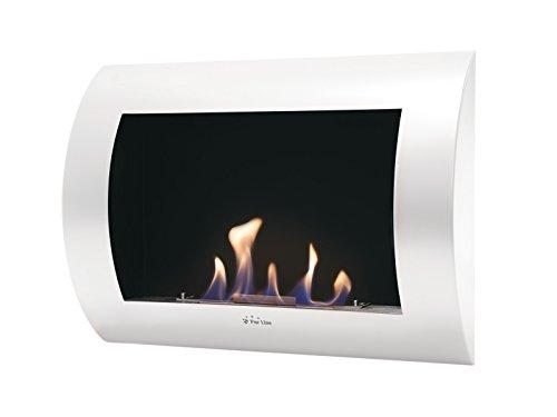 Wall-mounted Bio-ethanol Fireplace INOX CLASIC W