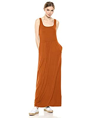 "An empire-waist adds shape to this sleeveless maxi dress with a relaxed fit Luxe Jersey - Perfectly rich, smooth fabric that drapes beautifully Start every outfit with Daily Ritual's range of elevated basics Model is 5'11"" and wearing a size Small"