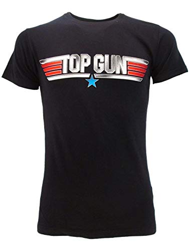 Sabor srl T-Shirt Top Gun 2 Originale Film Tom Cruise Maverick Blu Scuro Navy Maglia Maglietta Ufficiale (XL)