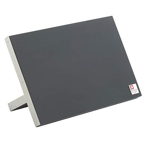 Richardson Sheffield Messerblock unbestückt, magnetisch, mit Halterung, integrierte Magnetleiste, Messermagnet, Messerhalter, Rubberwood, Edelstahl, Schwarz/Silber