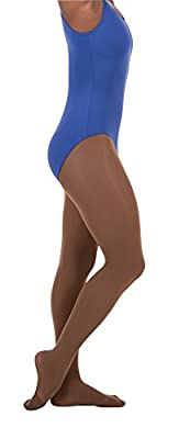 Can be worn as a footed or a footless tight and features invisible run guard that protects against high stress without unsightly lines Wear them over or under your favorite leotard for dance class or recitals Dyed to match CoolMax gusset for color un...