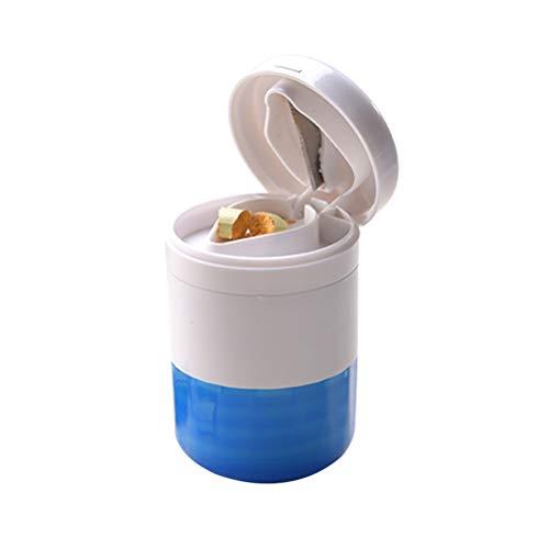 Healifty Multifuncional Portátil Trituradora de Píldoras y Dispensador de Pastillas (Azul)