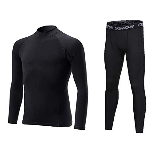 [UH] インナーシャツ スパッツ 上下セット 130 [ UPF50+ UVカット率99.8% 吸汗速乾 ] 黒 キッズ サッカーな...